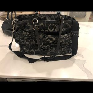 Coach black baby bag